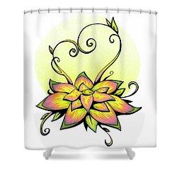 Vibrant Flower 8 Shower Curtain