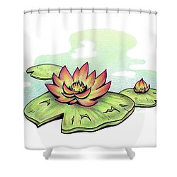Vibrant Flower 2 Water Lily Shower Curtain