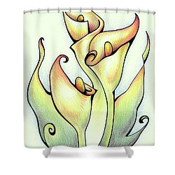 Vibrant Flower 3 Arum Lily Shower Curtain