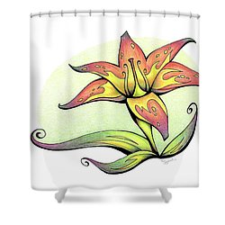 Vibrant Flower 4 Tiger Lily Shower Curtain