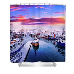 Vibrant Norway Shower Curtain