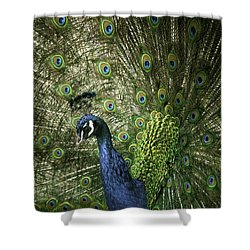 Vibrant Peacock Shower Curtain