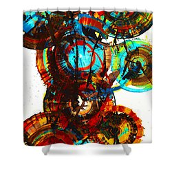 Vibrant Sphere Series 995.042312vsx2 Shower Curtain