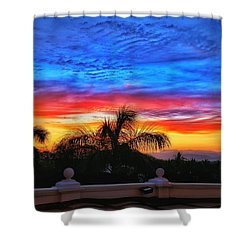 Shower Curtain featuring the photograph Vibrant Sunset In Mexico by Nikki McInnes