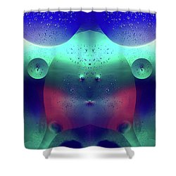 Shower Curtain featuring the photograph Vibrant Symmetry Oil Droplets by John Williams