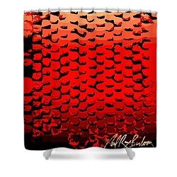 Vibrational Bricks Shower Curtain