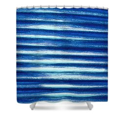 Vibrations Of Blue Shower Curtain