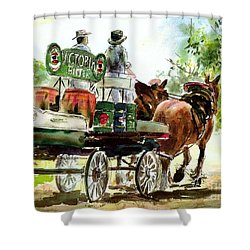 Victoria Bitter, Working Clydesdales. Shower Curtain