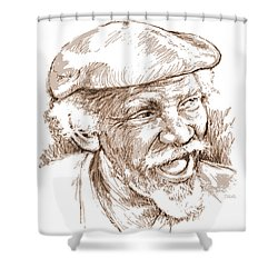 Victor Boa Shower Curtain
