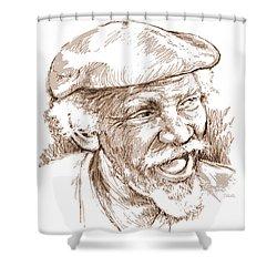 Victor Boa Shower Curtain by Greg Joens