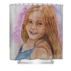 Shower Curtain featuring the painting Victoria by Donna Walsh