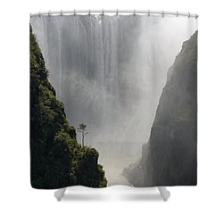Victoria Falls No. 2 Shower Curtain by Joe Bonita