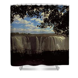 Shower Curtain featuring the photograph Victoria Falls, Zimbabwe by Travel Pics