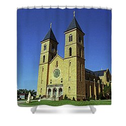 Shower Curtain featuring the photograph Victoria, Kansas - Cathedral Of The Plains 6 by Frank Romeo
