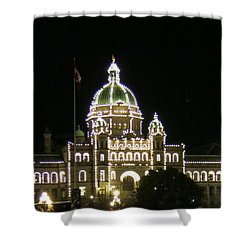 Victoria Legislative Buildings Shower Curtain by Betty Buller Whitehead