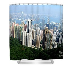 Shower Curtain featuring the photograph Victoria Peak 1 by Randall Weidner