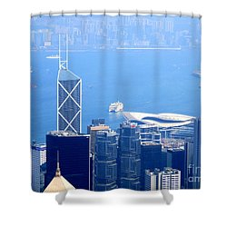 Shower Curtain featuring the photograph Victoria Peak 2 by Randall Weidner
