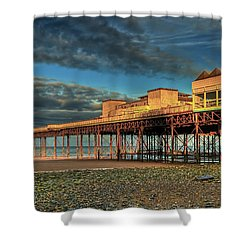 Shower Curtain featuring the photograph Victoria Pier 1899 by Adrian Evans