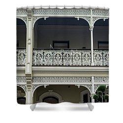 Victoria Street Balcony Shower Curtain