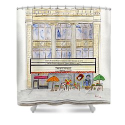 Victoria Theatre In Harlem Shower Curtain