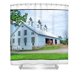 Shower Curtain featuring the photograph Victorian Barn by R Thomas Berner