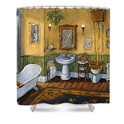 Victorian Bathroom By Prankearts Shower Curtain by Richard T Pranke