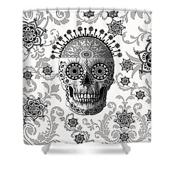 Victorian Bones Shower Curtain