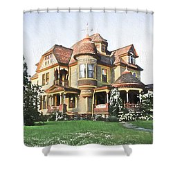 Victorian House Shower Curtain by Ericamaxine Price