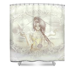 Shower Curtain featuring the mixed media Victorian Princess Altiana by Shawn Dall