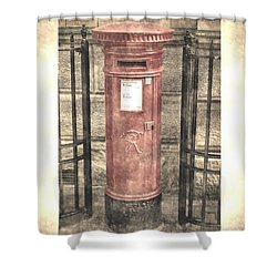 Victorian Red Post Box Shower Curtain