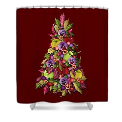 Victorian Style Holiday Tree Shower Curtain by MM Anderson