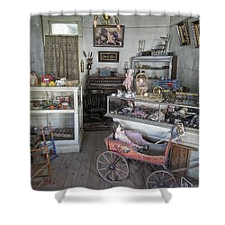 Victorian Toy Shop - Virginia City Montana Shower Curtain by Daniel Hagerman