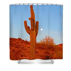 Victor's Harvest Moonset Shower Curtain