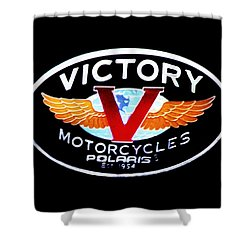 Victory Motorcycles Emblem Shower Curtain