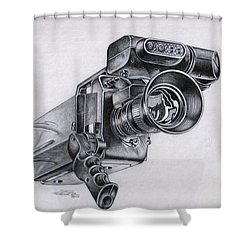 Video Camera, Vintage Shower Curtain