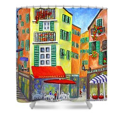 Vieille Ville - Nice Shower Curtain by Ronald Haber