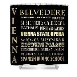 Vienna Austria Famous Landmarks Shower Curtain