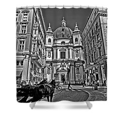 Vienna Scene Shower Curtain by Madeline Ellis