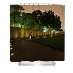 Vietnam Memorial By Night Shower Curtain