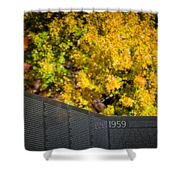 Vietnam Wall Autumn Shower Curtain
