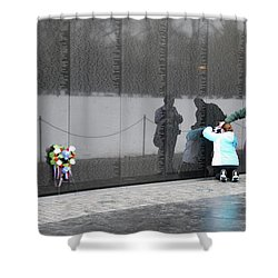 Vietnam Wall Family Shower Curtain