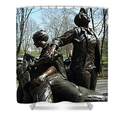 Vietnam Women's Memorial Shower Curtain