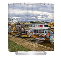 Vietnamese Dragon Boats Shower Curtain