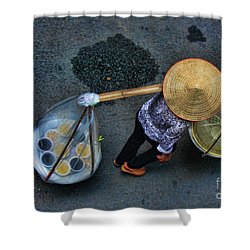 Vietnamese Woman Work Shower Curtain