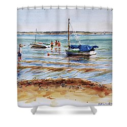View Across Provincetown Harbor Shower Curtain by Peter Salwen