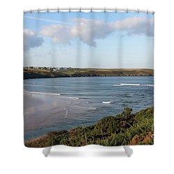 Shower Curtain featuring the photograph View Across The Gannel Estuary by Nicholas Burningham