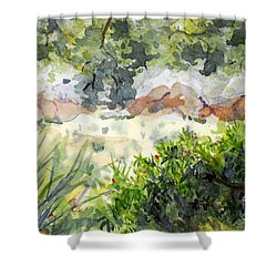 View At Red Rock Shower Curtain