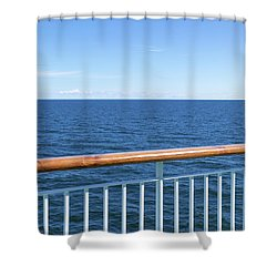 View At The Sea From Passenger Ship Shower Curtain