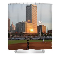 View From 3rd Base Shower Curtain