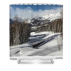 View From A Mountain Above Telluride In Colorado Shower Curtain